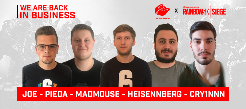 Back in Business: Unser neues R6S Team!